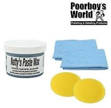 Poorboys World Nattys Paste Wax Carnauba Blue Natty's 8oz + 2 Free Cloths & Pads