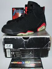 Air Jordan Retro 6 VI Nike 2000 OG Infrared Black Sneakers Men's Size 11.5 New