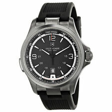 Victorinox Swiss Army 241596 Night Vision GMT Black Dial Rubber Strap Mens Watch