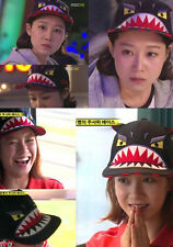 Korean TV Variety Show Running Man Actress Song Ji Hyo Red Black Monster Hat Cap