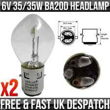 6V 35/35W BA20D BOSCH TYPE FIT DOUBLE CONTACT HEADLIGHT / HEADLAMP BULB P393 x2