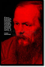 FYODOR DOSTOYEVSKY ART PRINT PHOTO POSTER GIFT QUOTE CRIME AND PUNISHMENT