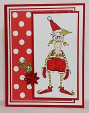 Santa Elf Eunice RETIRED Uget photo #1L@@Kexamples ART IMPRESSIONS RUBBER STAMPS