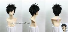 Hitman Reborn Takeshi Yamamoto Short Black Anime Cosplay Costume Wig +Free CAP