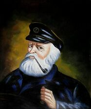 Old Sea Captain Repro, Quality Hand Painted Oil Painting, 20x24in