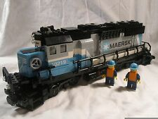 Lego Train City Creator Maersk Diesel Engine + Figures 10219/10233/10194 Mint
