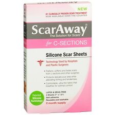 ScarAway for C-Sections, Soft Fabric-Backed Silicone Scar 4 ea