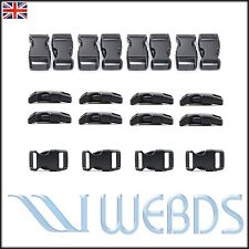 "20 Pcs 10mm 3/8"" Survival Paracord Bracelets Curved Side Release Buckles OEM"