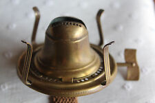 RARE c.1875 ANTIQUE UPTON PATENT KEROSENE OIL LAMP BURNER W/ WAVY WICK RAISER