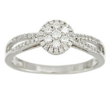 Epiphany Diamonique Round Cluster Design Halo Ring, Size 9 - QVC