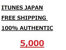 Apple iTunes Japan  App Store 5,000 Yen Card japanese free shipping5000