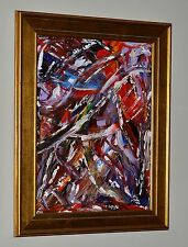 """DANCING in the STREETS"" ORIGINAL Jackson Pollock American Artist LENG Fine Art"