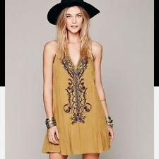 135291 NEW Free People Embroidered Crazy For Love Embellished Tunic Dress XS