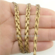 """10M Gold 4mm Braid Rope 390"""" inch Cord For Necklace Bracelet Diy Manmade Leather"""