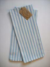 CLASSIC DUSK BLUE TICKING STRIPE Cotton Dish Towels Set of 2