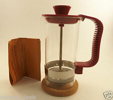 Burgundy Travel Coffee and Tea Maker French Press 3 Cup