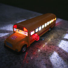 School Bus Alloy Diecast Car Model Sound&Light toys Children's gifts Orange New