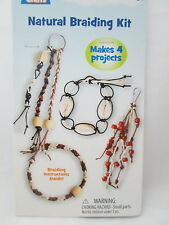 Clubhouse Crafts Kid's Cords n' More Jewelry Braiding Kit - Natural/Shells