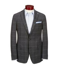 DANIEL CREMIEUX Warwick $275 gray windowpane check sportcoat blazer XL NWT