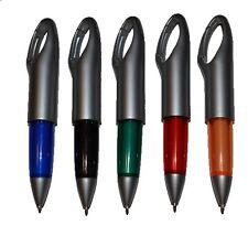 10 CARABINER (KARABINER) CLIP PENS BLACK INK Free P&P! NEW & COOL!