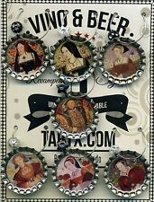 The Tudors King Henry VIII & Six Wives Drink Charm Ids