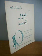 1962 PAGEANT OF CHAMPIONS Drum & Bugle Corps Competition Program, Kingston NY