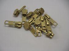 12 Pieces Slider Pulls . YKK Gold Metal Jacket Zipper Slider . Size #5