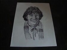 Doctor Who---Tom Baker---Photo---Caricature Drawing---8x11---1985---XHTF
