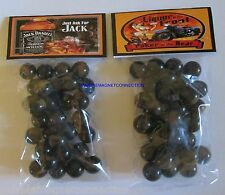 2 BAGS OF JACK DANIELS WHISKEY / JUST ASK FOR JACK ADVERTISING PROMO MARBLES