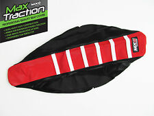 HONDA CRF450 CRF450R 2013 2014 RIBBED SEAT COVER BLACK + RED WHITE STRIPES RIBS
