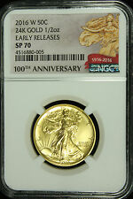 2016 W Gold Walking Liberty Half Centennial Coin NGC SP70 Early Release  005