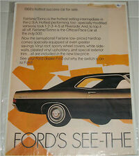 1968 Ford Fairlane 2 dr ht car ad