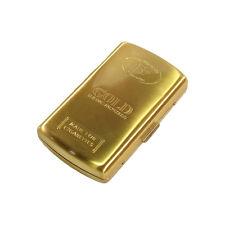 ★PORTASIGARETTE GOLD CIGARETTE BOX ASTUCCIO METALLO PER 12 SIGARETTE COLORE ORO★