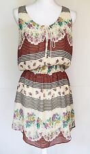 FREE PEOPLE Size M Lace Up Dress Anthropologie