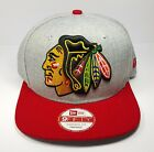 Chicago Blackhawks New Era 9Fifty Grand Logo Speed Snapback Hat Cap Gray Hat NHL