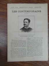 LES CONTEMPORAINS No 166 (1895) PAUL BAUDRY (1828-1886)