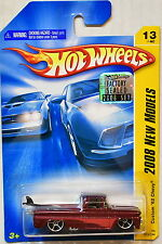 HOT WHEELS 2008 NEW MODELS CUSTOM '62 CHEVY #13/40 RED FACTORY SEALED