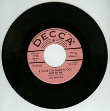Bill Phillips I Guess You Made A Fool Out Of Me PROMO 7'' Record