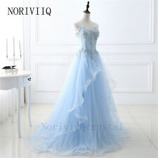 Blue Long Bridesmaid Dresses Wedding Party Prom Dress Evening Ball Gown Skirts