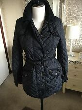 NEXT BLACK QUILTED SIZE 10 JACKET AUTHENTIC WEAR