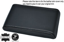 WHITE STITCHING ARMREST LID LEATHER COVER FITS HOLDEN COMMODORE VL