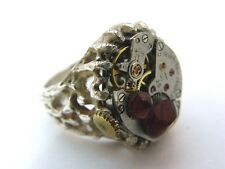 """STEAMPUNK,Handmade""""Warlock's Claw"""",925 Sterling,One of a Kind! RING,09,L@@K"""