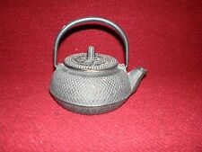 Cast Iron Tea Pot Teapot Hobnail Tetsubin Kettle & Infuser Filter 0.3L Black
