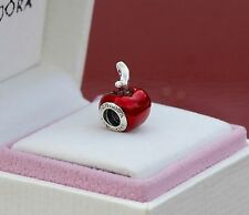 GENUINE AUTHENTIC PANDORA SILVER DISNEY SNOW WHITE'S APPLE 791572EN73