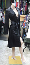 House of Cashmere-Most Stunning Black Satin Dress-Coat Jacket in The Universe! L