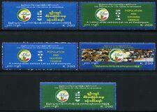 MYANMAR BURMA 2014 Volkszählung Zensus Census II ** MNH