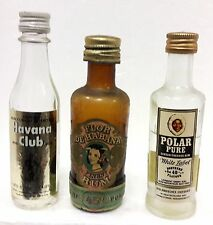 old miniature  HAVANA CLUB+FLOR DE HABANA+POLAR RUM