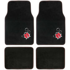 Design Car Floor Mats Lady Bug, 4 PC Set for Custom Auto Interior, Carpet