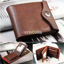 Mens Leather Bifold ID Cards Holder Coin Pocket Bag Slim Purse Wallet Fashion