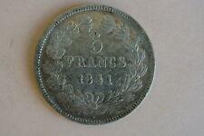 5 FRANCS LOUIS PHILIPPE tête laurée 1841 BB RARE TTB à Sup